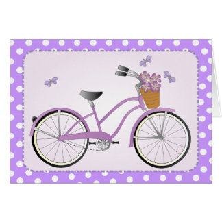 Purple Bicycle Note Card