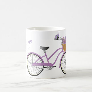 Purple Bicycle with Butterflies Coffee Mug