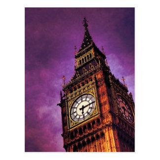 Purple Big Ben Postcard