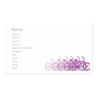 Purple Bike - Chubby Pack Of Standard Business Cards