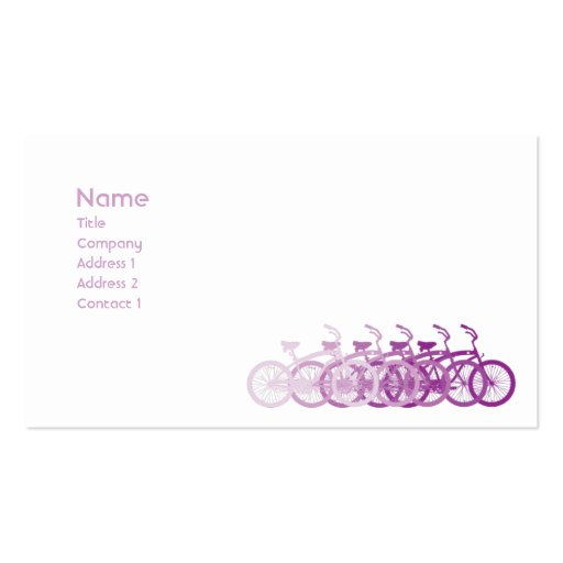 Purple Bike - Classic Pack Of Standard Business Cards