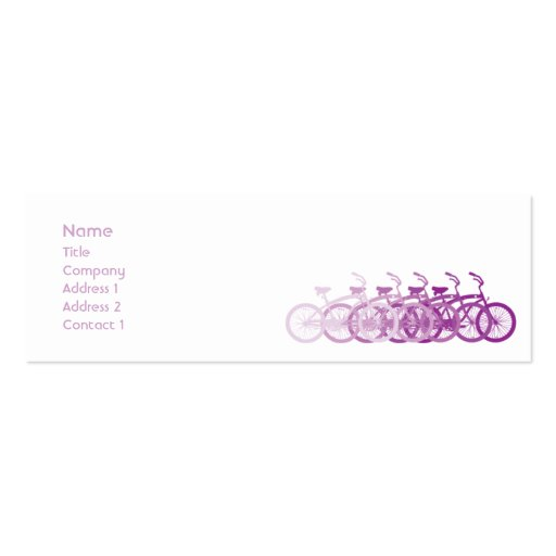 Purple Bike - Skinny Double-Sided Mini Business Cards (Pack Of 20)