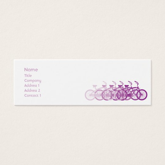 Purple Bike - Skinny Mini Business Card
