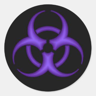 Purple Biohazard Symbol Sticker