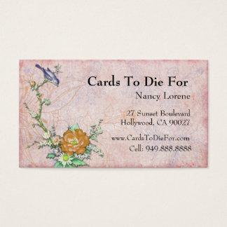 Purple Bird on a Branch Business Card