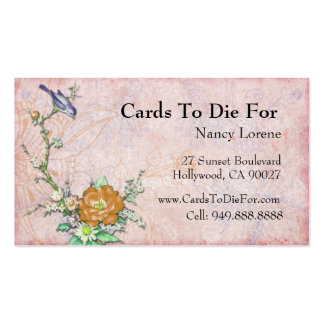 Purple Bird on a Branch Pack Of Standard Business Cards