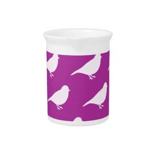 Purple Birds Pitcher