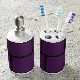 Purple & Black Bathroom Set