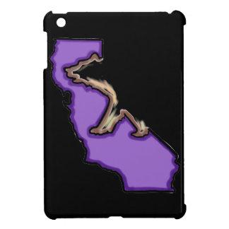 Purple black bear Cali symbol ipad mini case