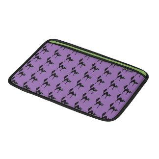 Purple Black Cat Halloween Sleeve For MacBook Air