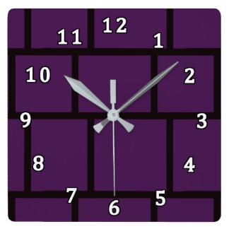Purple & Black Clock