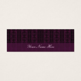Purple Black Elegant Pattern Mini Business Card