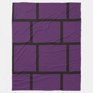 Purple & Black Fleece Blanket