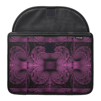 Purple & Black Geometrical Design, Macbook Sleeve