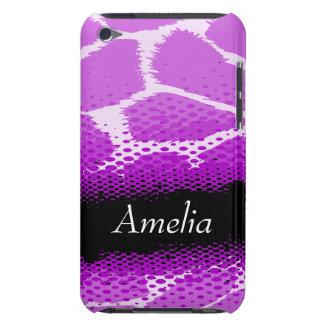 Purple & black graphic animal print ipod case