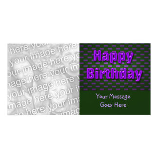 purple black happy birthday card