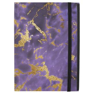 """Purple Black Marble Faux Gold Glitter Pattern iPad Pro 12.9"""" Case"""