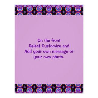 purple black pattern custom flyer