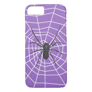 Purple/Black Spider Halloween iPhone 7 Case