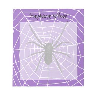 Purple/Black Spider Halloween Notepad