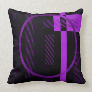 Purple Black Throw Pillow - Double-sided