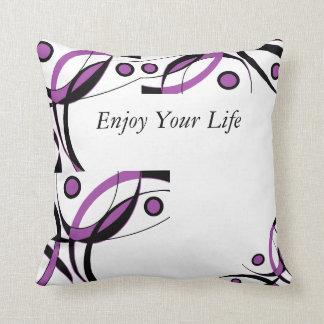 Purple Black White Design Cushion