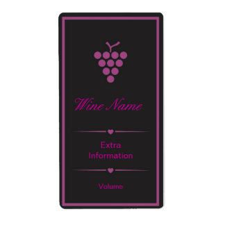 Purple Black Wine Label Shipping Label