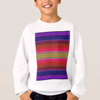 Purple Blanket Texture Sweatshirt