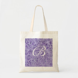 Purple blends, Monogram tote bags, template Budget Tote Bag