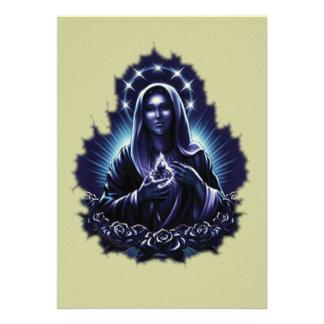 Purple Blessed Virgin Mary Invitation