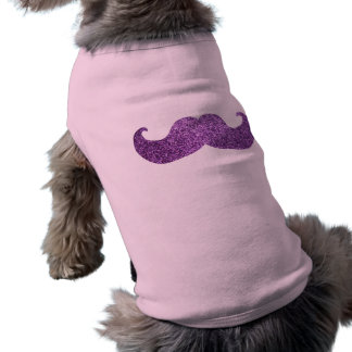 Purple Bling mustache (Faux Glitter Graphic) Shirt
