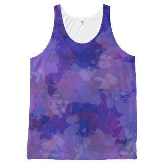 Purple Blizzard All-Over Print Tank Top