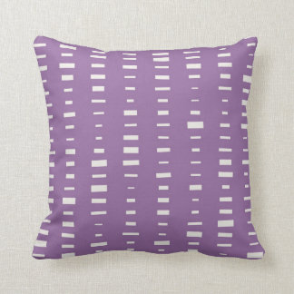 Purple Block Stripe Pillow