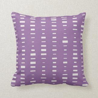 Purple Block Stripe Pillow Throw Cushions
