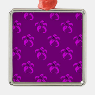 Purple bloom christmas ornament