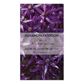 Purple Bloom Floral Mommy Business Card
