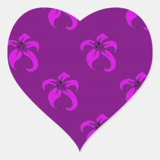 Purple bloom heart sticker