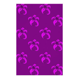 Purple bloom stationery