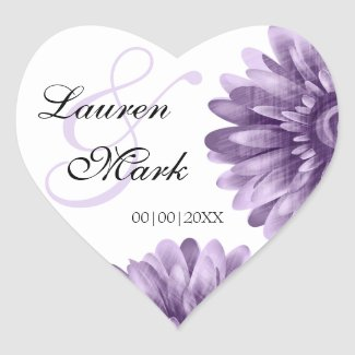 Purple Blossom Daisy Save Date Wedding