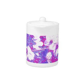 Purple Blossom Teapot