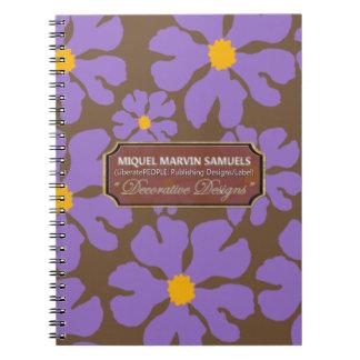 Purple Blossoms Art Designer Modern Notebook