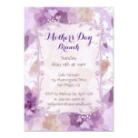 Purple Blossoms Mother's Day Brunch 13 Cm X 18 Cm Invitation Card