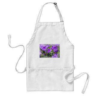 purple blossoms vines plants flora bellflower standard apron