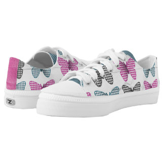 Purple Blue and Black Butterflies Low Tops