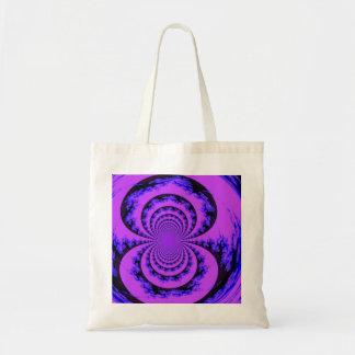 Purple,blue and black fractal art bag