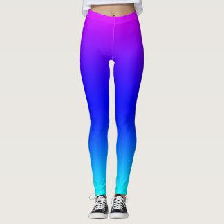 Purple Blue and Green Gradient Leggings