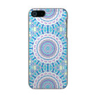 Purple, Blue and Green Kaleidoscope Flowers Design Incipio Feather® Shine iPhone 5 Case