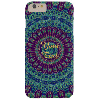 Purple, Blue and Green Mandala Barely There iPhone 6 Plus Case