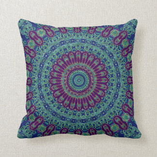 Purple, Blue and Green Mandala Cushion