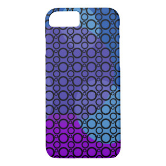 Purple, Blue and Pink Curves Under Black Circles iPhone 8/7 Case